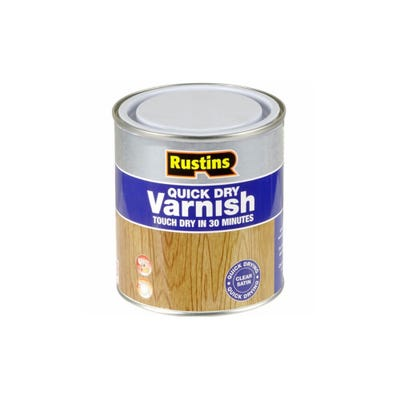 Rustins Quick Dry Varnish Satin Clear 500ml