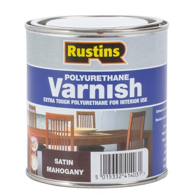 Rustins Polyurethane Varnish Satin Teak 500ml