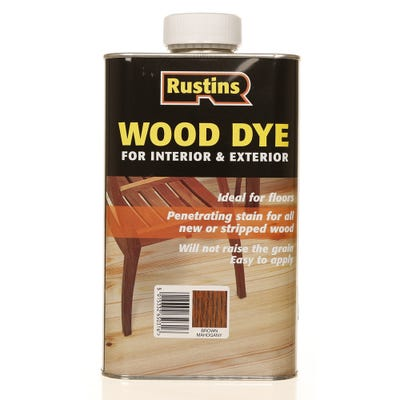 Rustins Brown Mahogany Wood Dye Internal & External