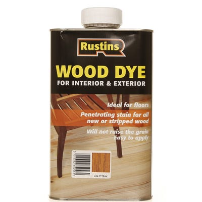 Rustins Light Teak Wood Dye Internal & External