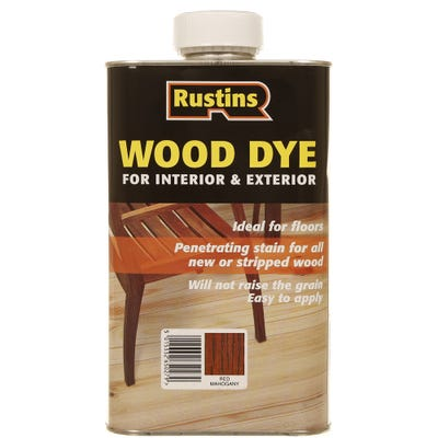 Rustins Red Mahagonay Internal & External Wood Dye
