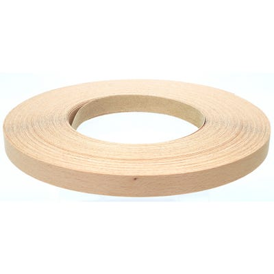22mm Steamed Beech Iron On Edging Tape 50m