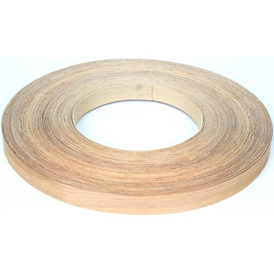 22mm White Oak Iron On Edging Tape 50m