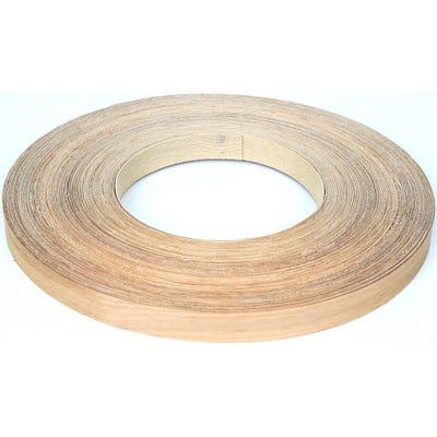 22mm White Oak Iron On Edging Tape 50m