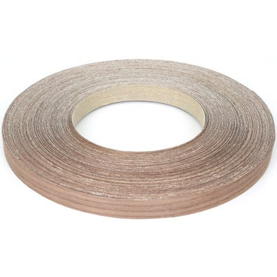 22mm Walnut Iron On Edging Tape 50m