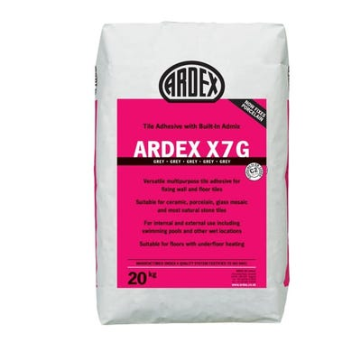 Ardex X7 Grey Wall and Floor Tile Adhesive 20Kg