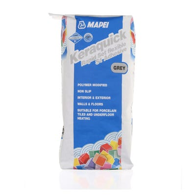 Mapei Keraquick Grey Rapid Setting Flexible S1 Adhesive 20Kg