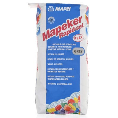 Mapei Mapeker Grey Rapid Set Flex Adhesive 20Kg