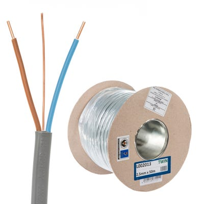 2.5mm Twin and Earth Cable 50m Drum 6242Y