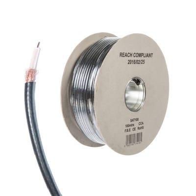 SAT100 Coaxial Cable Black 100m Drum