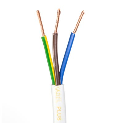 1.5mm 3 Core Flex Heat Resistant Cable White 50m Drum 3093Y