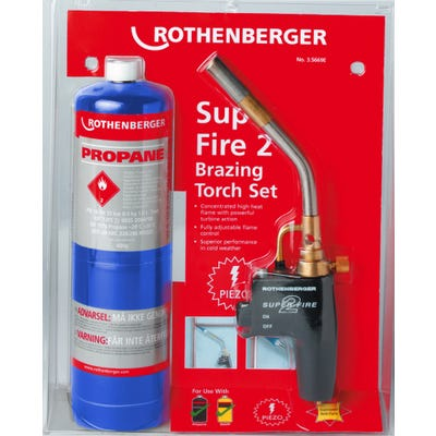 Rothenberger Super Fire 2 Torch & Propane