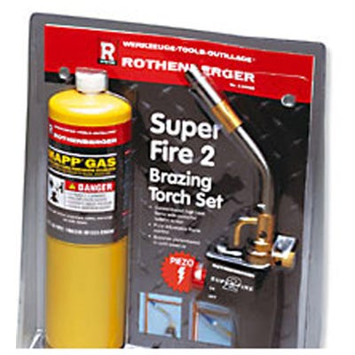 Rothenberger Super Fire 2 Torch & Mapp Gas
