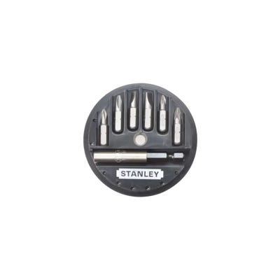 Stanley 7 Piece Phillips, Slotted & Pozidriv Insert Bit Set