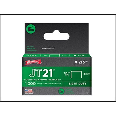 Arrow JT21 T27 Staples 8mm - Box of 1000