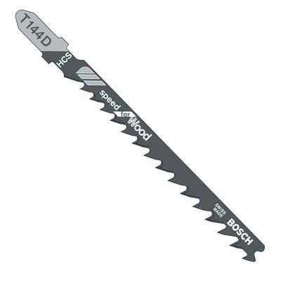 Bosch 100mm Jigsaw Blades Speed Cut Wood Pack of 5 T144D