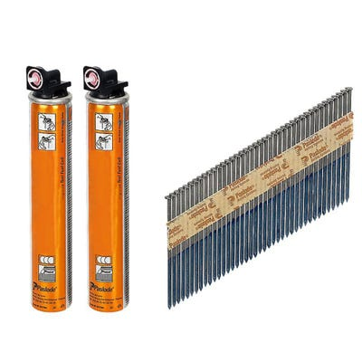 Paslode 90mm x 3.1mm Galvanised Smooth Nails & Fuel Pack of 2200