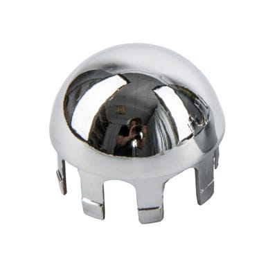 Domed End Wall Cap Polished Chrome