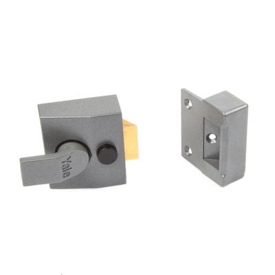 Yale Standard Nightlatch 40mm Grey with Brass