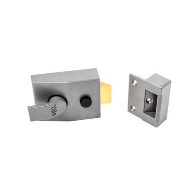 Yale Standard Nightlatch 60mm Grey with Brass