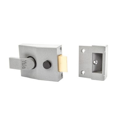 Yale Standard Nightlatch 60mm Grey with Satin Chrome