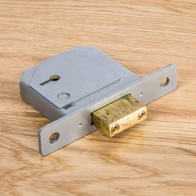 Union 5 Lever BS Deadlock 80mm Polished Brass