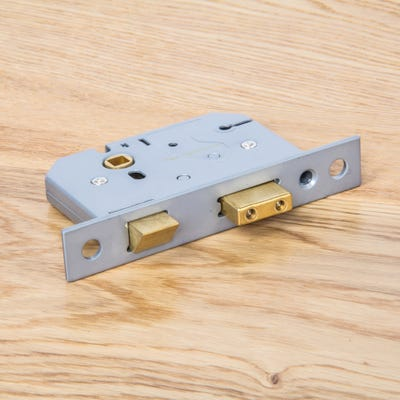 Union 3 Lever Mortice Sash Lock 63mm Polished Brass
