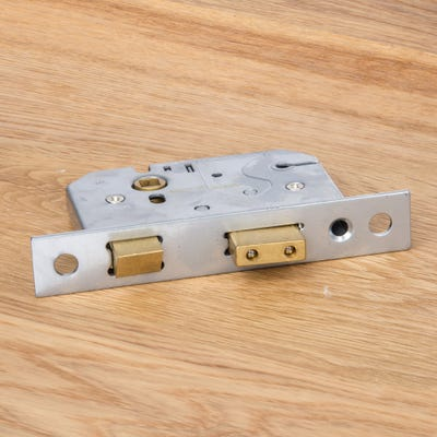 Union 3 Lever Mortice Sash Lock 76mm Polished Brass