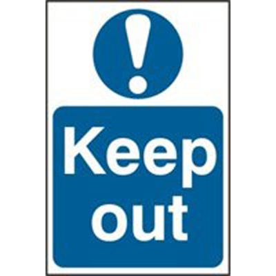 Keep Out Safety Sign 200mm x 300mm