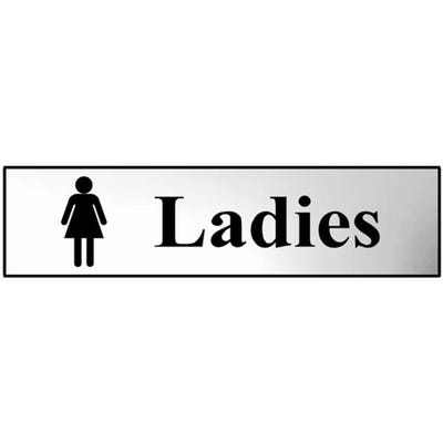Ladies Sign in Chrome 200mm x 50mm