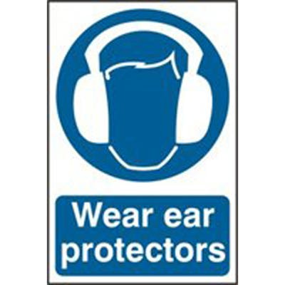 Wear Ear Protectors Safety Sign 200mm x 300mm
