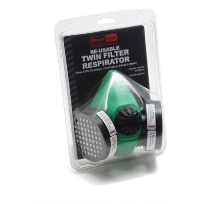 Blackrock Twin Half Mask Respirator With A1P2 Filter