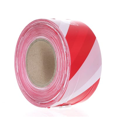 Defiance Barrier Tape Red/White 75mm x 500m