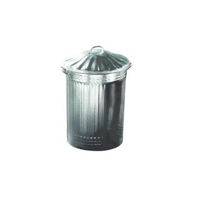 Galvanised Dustbin 18'' With Galv Lid