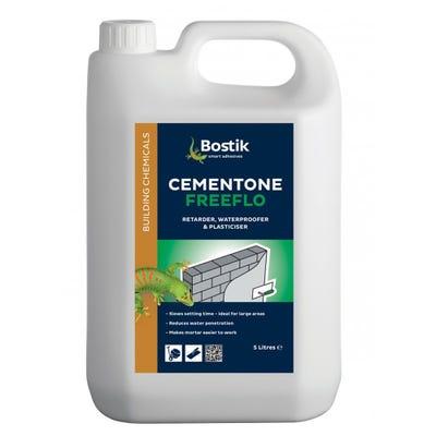 Bostik Cementone Freeflo Render Admixture Plasticiser Waterproof Retardant 5L