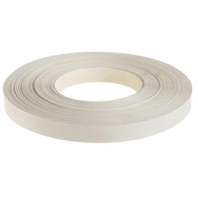 22mm White Iron On Edging Tape 50m