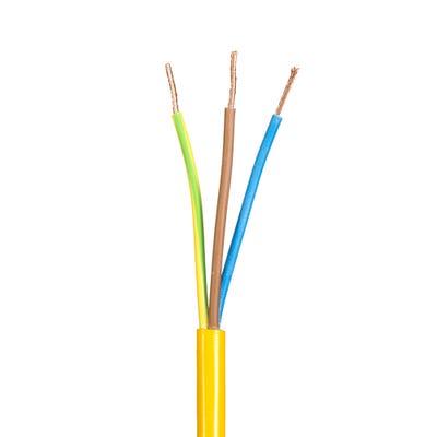 1.5mm 3 Core Flex Arctic Cable Yellow 100m Drum 3183AG