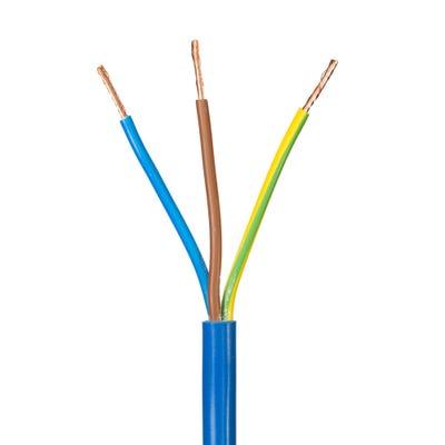 2.5mm 3 Core Flex Arctic Cable Blue 100m Drum 3183AG