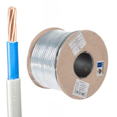 16mm Double Insulated Meter Tail Grey/Blue 50m Drum 6181Y