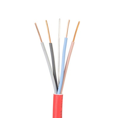 1.5mm Jayflame 4 Core Cable Red 100m Drum