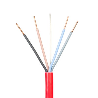 2.5mm Jayflame 4 Core Cable Red 100m Drum