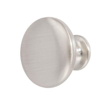 Cabinet Door Knob 29.5mm Diameter Matt Nickel
