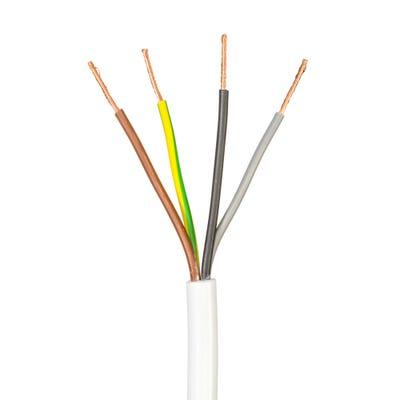 1.5mm 4 Core Flex Cable White 50m Drum 3184Y