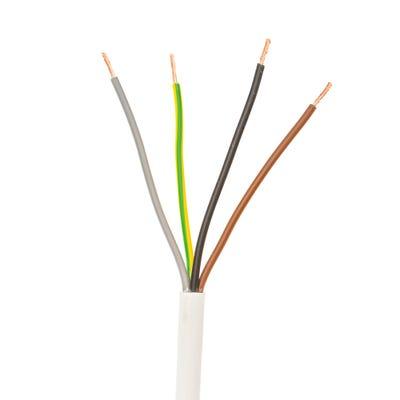 2.5mm 4 Core Flex Cable White 50m Drum 3184Y