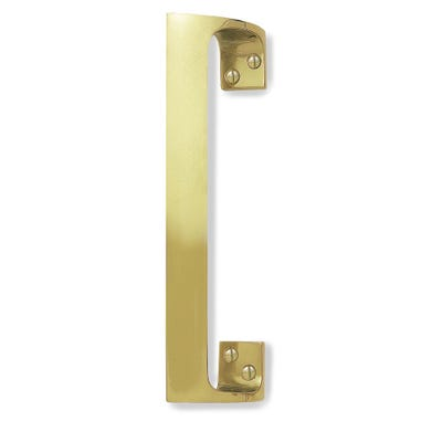 Offset Pull Handle 229mm Polished Brass