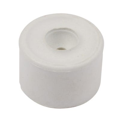Round Rubber Door Stop 35mm White