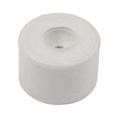 Round Rubber Door Stop 35mm White