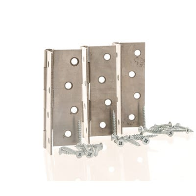 Butt Hinge 100mm Plain Pack of 3
