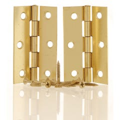 Butt Hinge 75mm Plain Brass