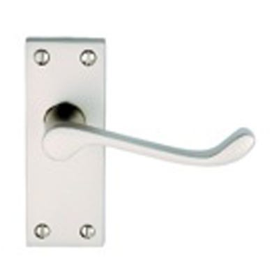 Contract Victorian Scroll Door Handle in Satin Chrome